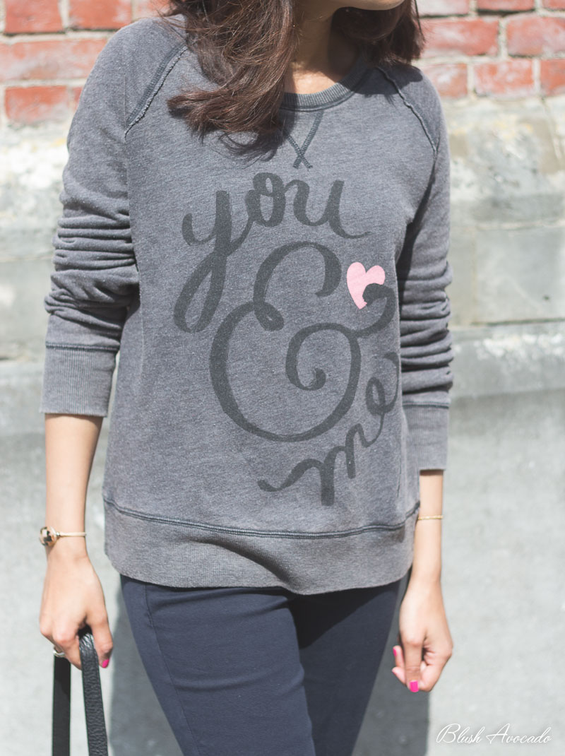 Zara Decoration Bruxelles : Ootd sweat love