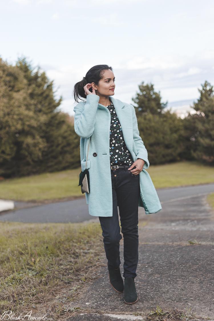 Look tendance vert sapin look le manteau rose p le look d - Chambre couleur vert d eau ...