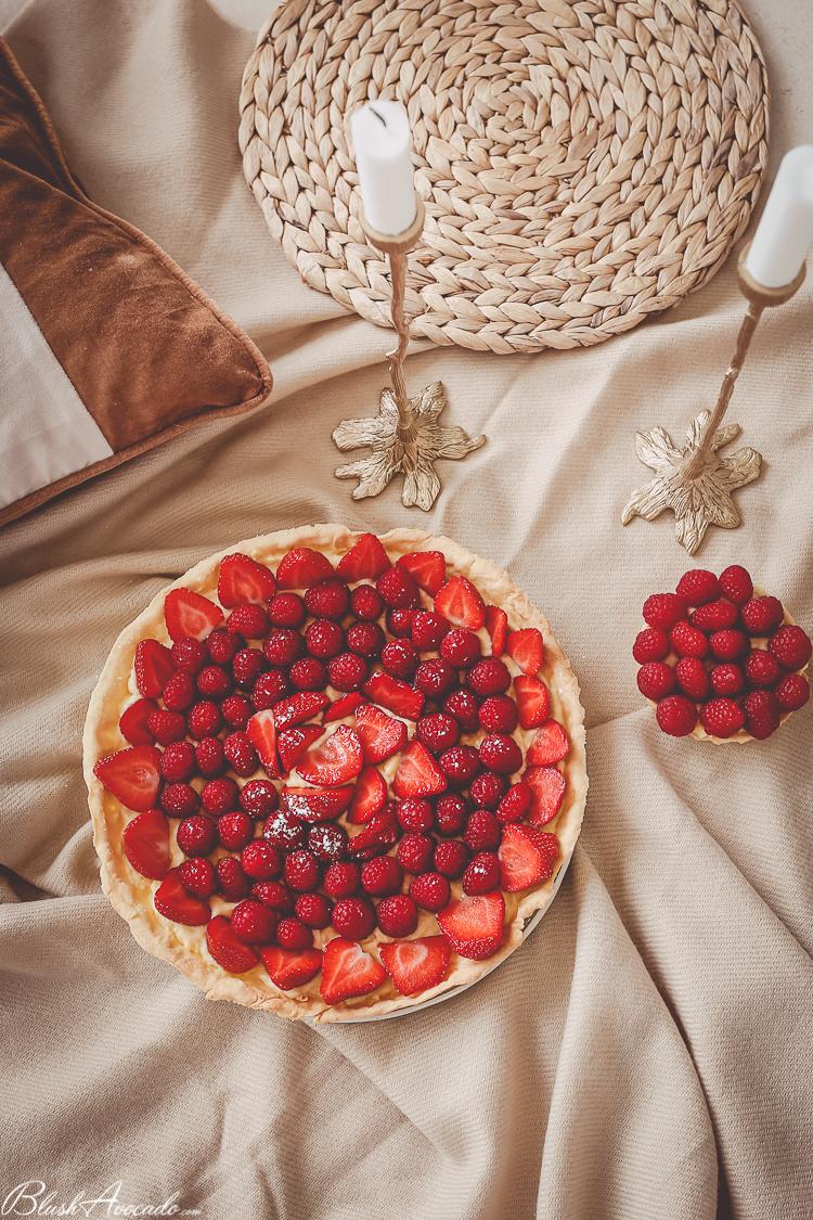 Recette tarte aux fraises framboises accessible à tous !