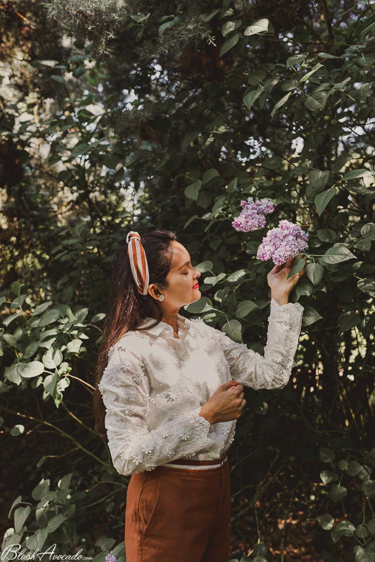 Look printanier : lilas et marguerites