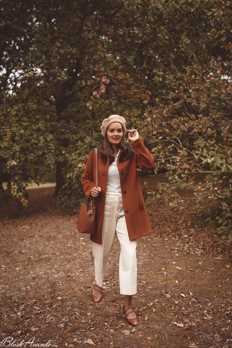 Premier look automnal : le manteau couleur muscade