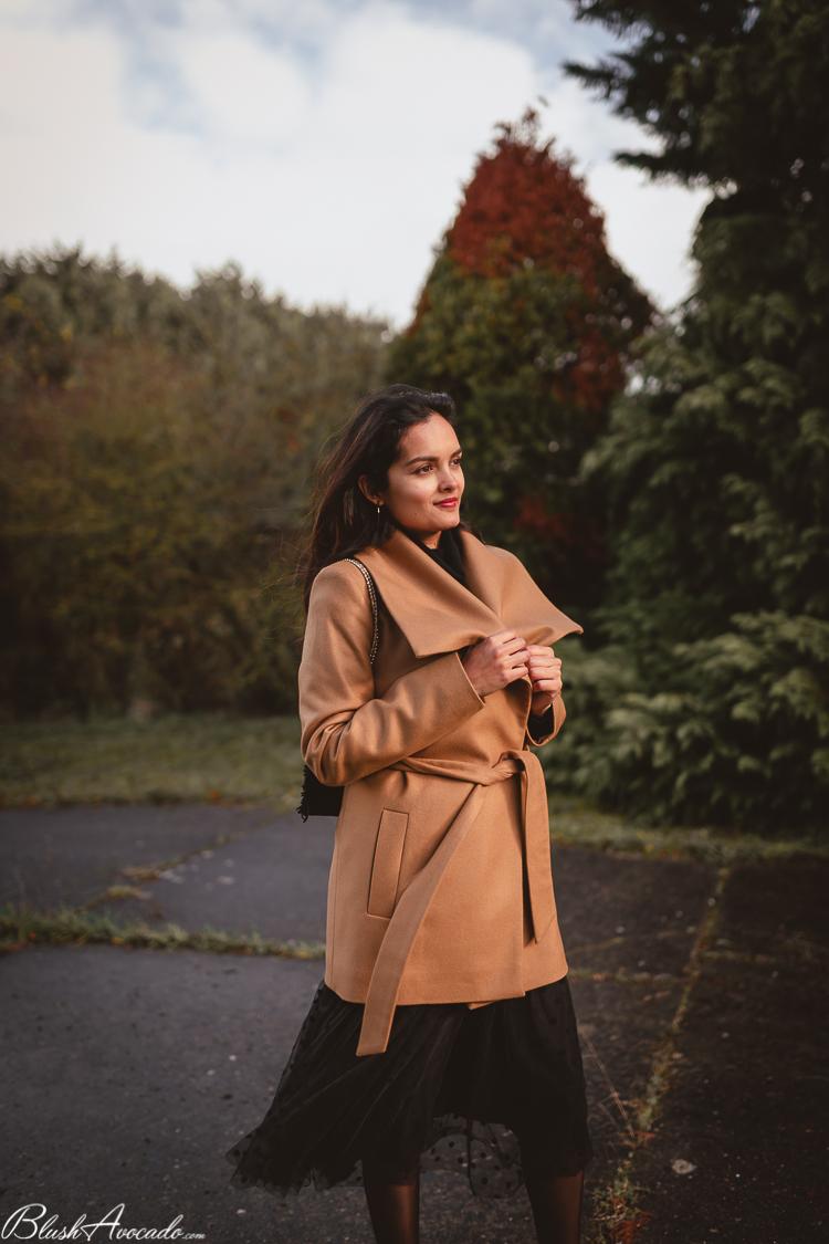 Le manteau col châle Marie Zélie