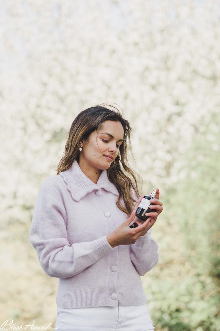 Look lilas blanc et mon nouveau parfum éco-responsable AEMIUM